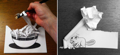 A Clever Illustrator Uses 3D Tricks That Will Amaze You
