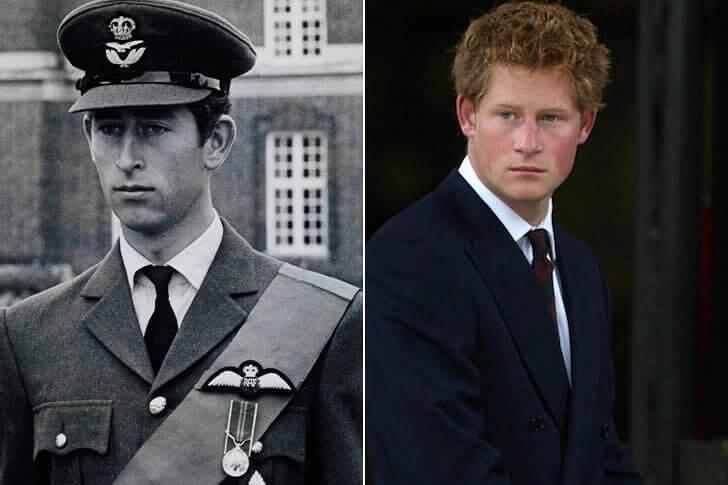 Príncipe Charles e Príncipe Harry - No Início da casa dos 20 anos
