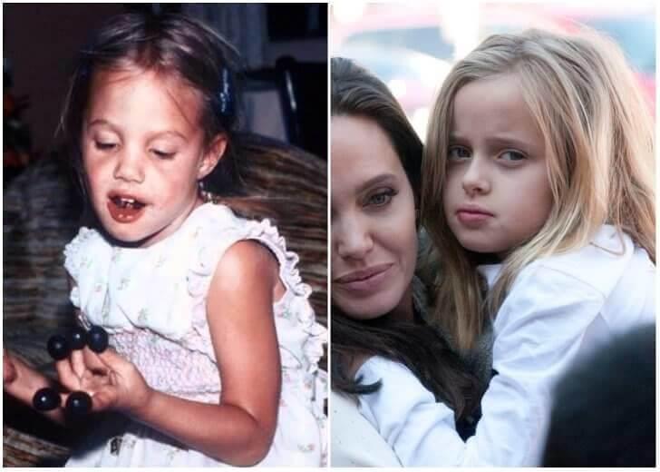 Angelina Jolie e Vivienne Marcheline Jolie-Pitt – Infância