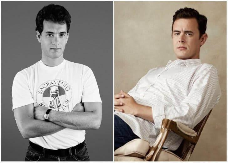 Tom Hanks e Colin Hanks – Na casa dos 20 anos