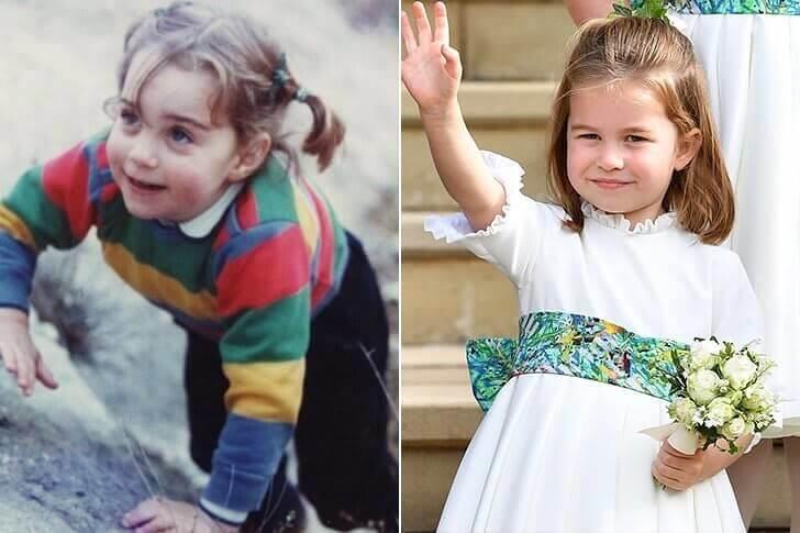 Duquesa Catherine & Princesa Charlotte - Pré-escola