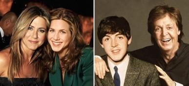 50 imágenes mágicas de celebridades de la mano de sus versiones jóvenes