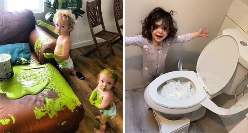 30+ Parents Share Hilarious Ways Their Kids Are Causing Trouble in Quarantine