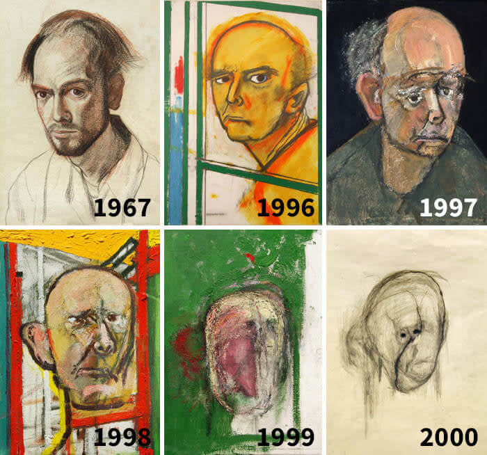 Self-Portraits While Suffering From Alzheimer's Disease