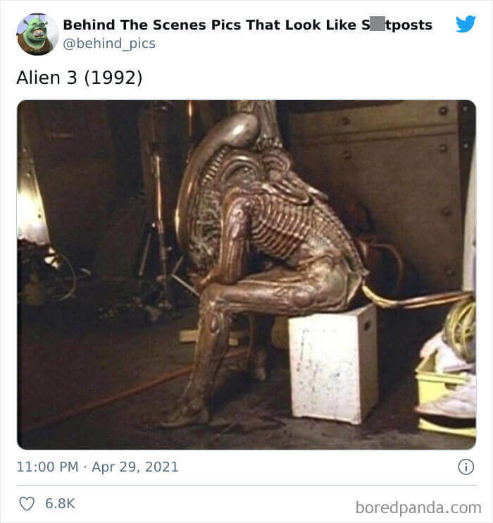 Not An Alien Sitting On A Toilet