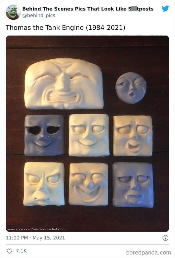 The Progression Of Thomas' Face