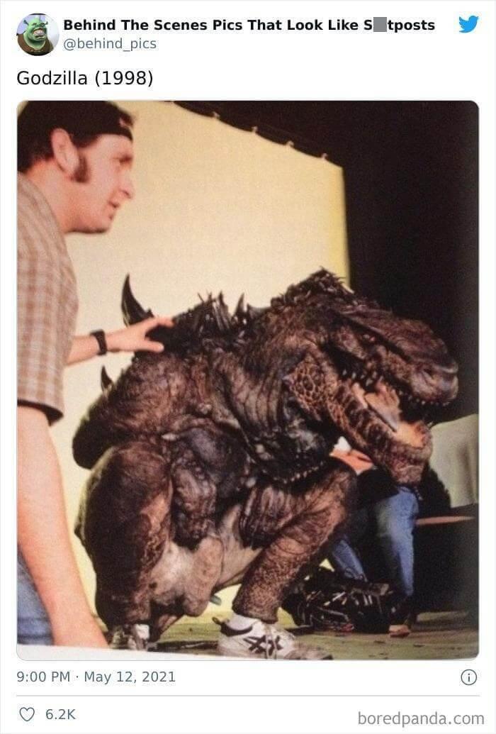 Godzilla Doing Squats