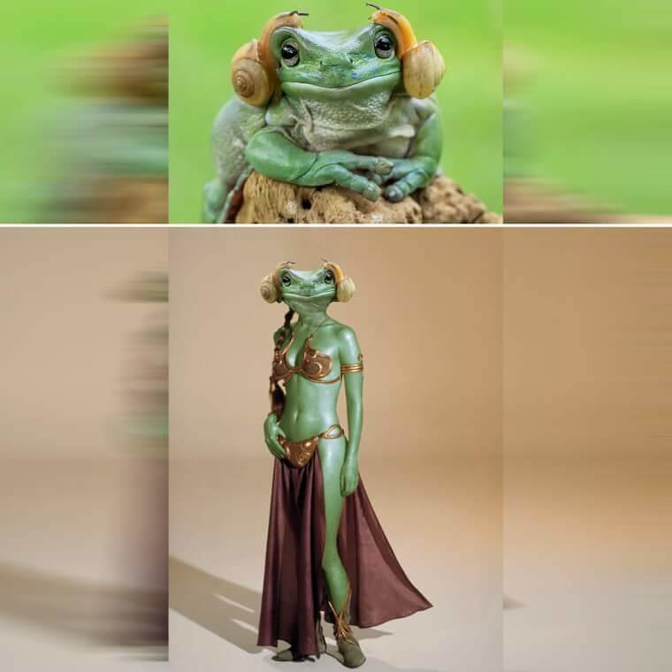 Descripción: A Frog That Resembles Princess Leia