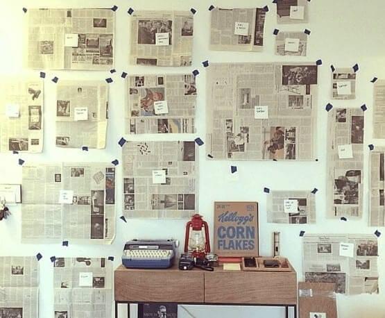 Diseña Tu Galería Con Papel De Diario