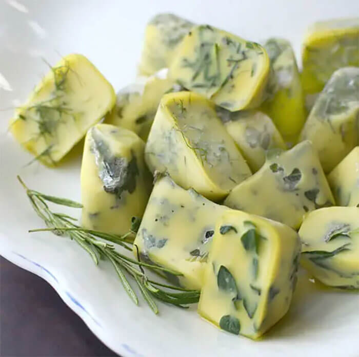 Freeze And Preserve Herbs In Olive Oil To Make Cooking Easier