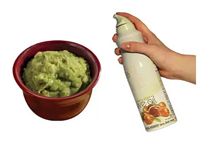 Spray Left Over Guacamole With Cooking Spray Before Putting It Back In The Fridge