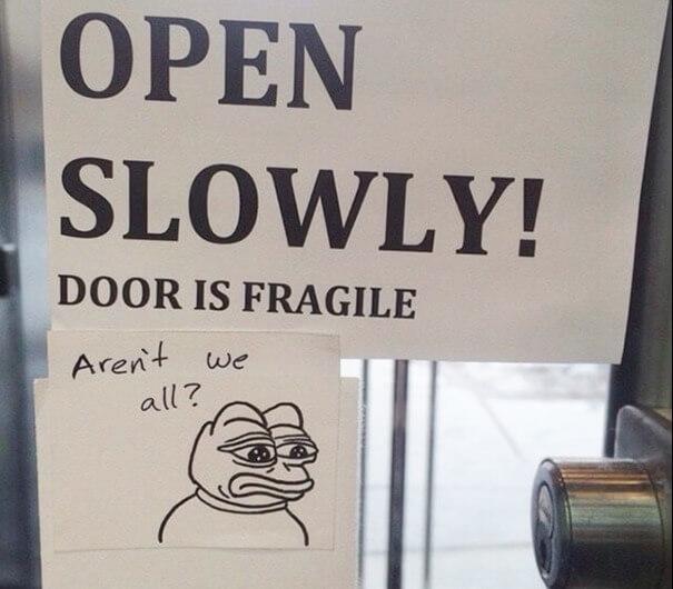 The Most Relatable Door Sign Ever