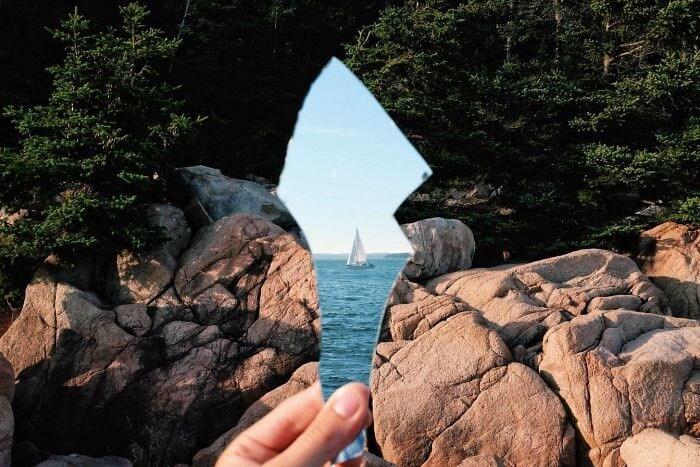 Olhando Para Frente E Atrás Ao Mesmo Tempo