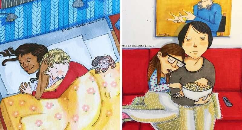Más de 40 ilustraciones que resumen perfectamente las relaciones largas