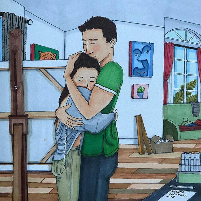El abrazo perfecto cuando lo necesitas