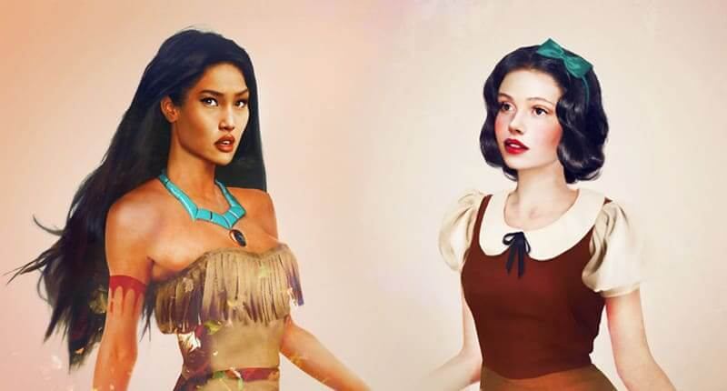Artist Masterfully Reimagines Disney Characters As Real People