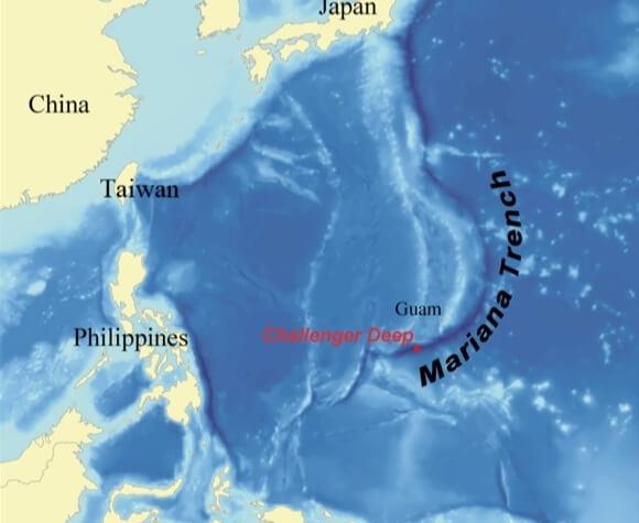 Fosa de las Marianas, Océano Pacífico