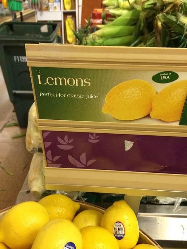 Orange You Glad They Have Lemons