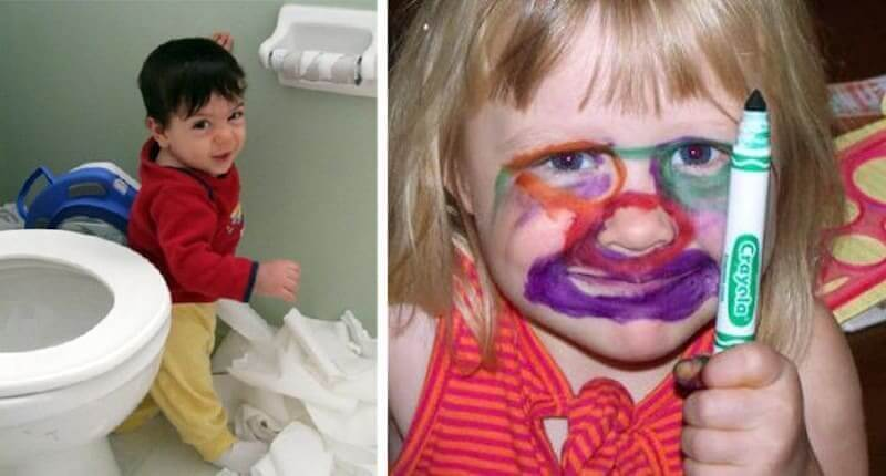Photos Reveal What Happens When Toddlers Are Left Unsupervised For 30 Seconds