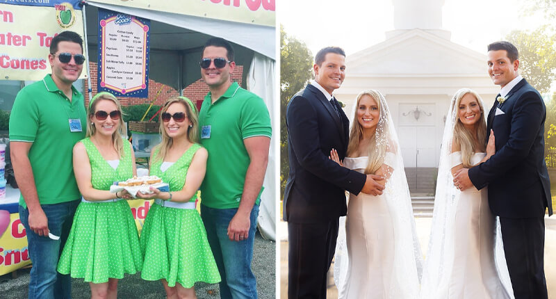 You're Not Seeing Double: These Identical Twin Sisters Also Married Identical Twin Brothers