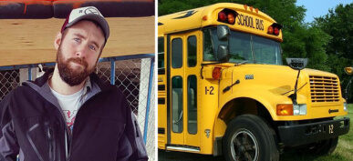 Man Builds His Dream Home With Only $2,200 And An Old School Bus