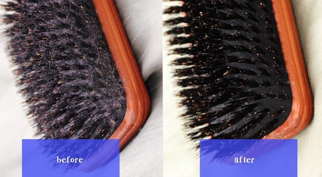 Limpe Uma Escova De Cabelo Com Shampoo