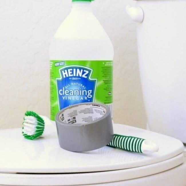Limpe Seu Vaso Com Vinagre E Fita Adesiva