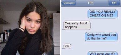 40 Cringe-Worthy Moments From People Who Got Caught Cheating Via Text Message