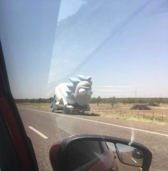 Giant Rick Stopped On The Roadside