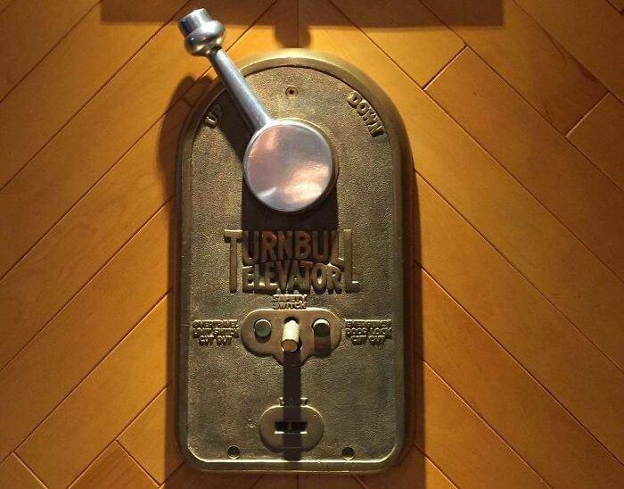 100-Year-Old Elevator Crank
