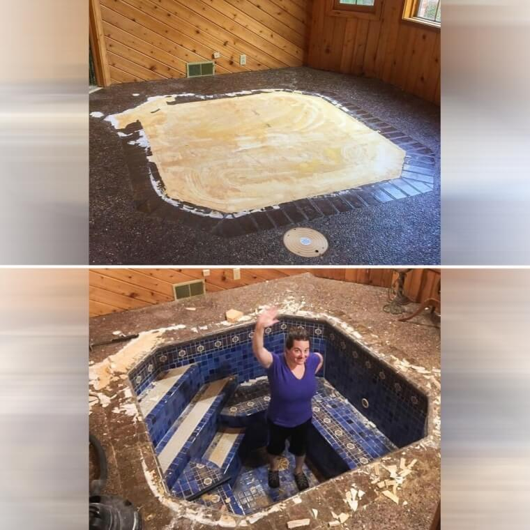 An Old Jacuzzi Under The Living Room