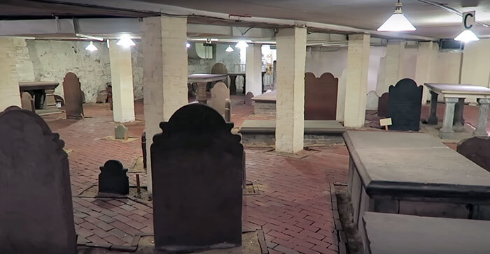 1800s Cemetery In The Basement Of A New Building