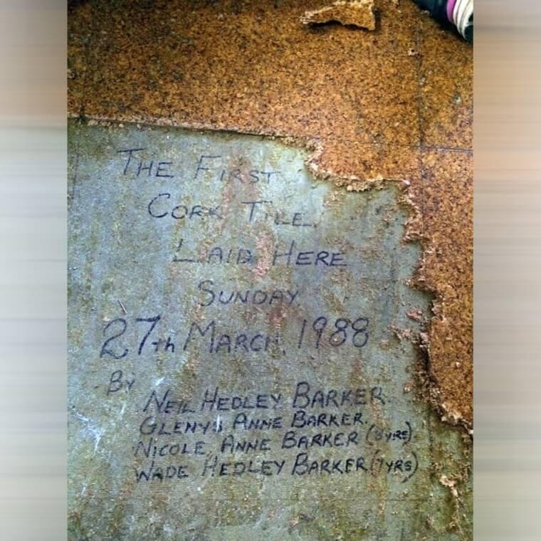 Messages Beneath The Cork Floor