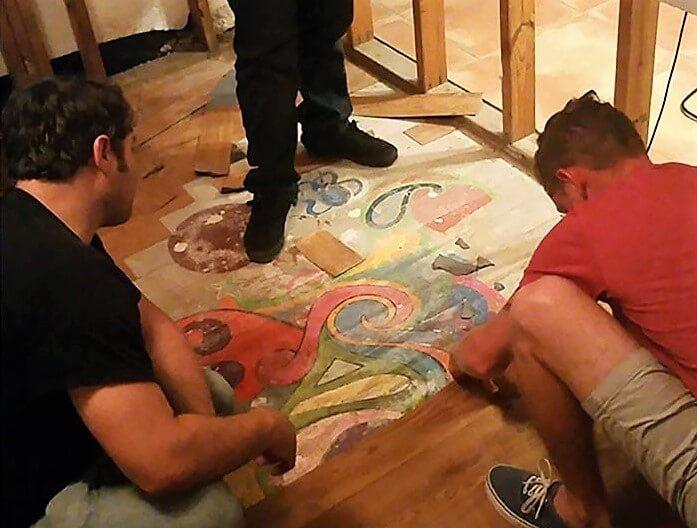 Work Of Art Below The Floor Boards