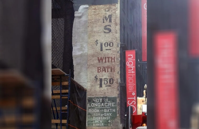 NYC History Revealed In Times Square
