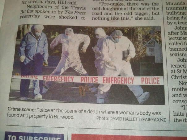 Χορεύουν οι Αστυνομικοί στο Χώρο του Εγκλήματος;