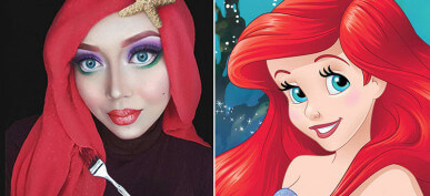 This Woman Creatively Uses Her Hijab to Turn Into Famous Characters